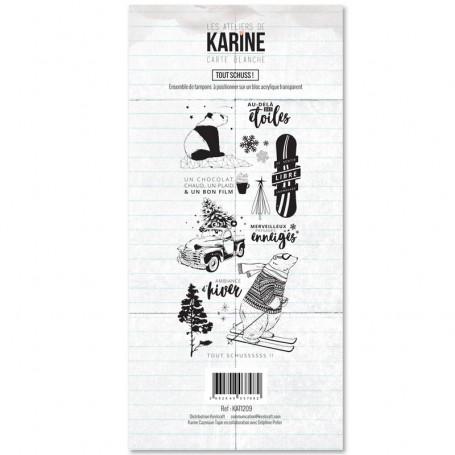 Tampons Tout schuss ! - Carte Blanche - Les ateliers de Karine