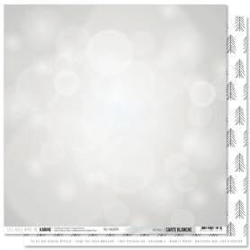 Papier 30x30 Bokeh 1f - Carte Blanche - Les ateliers de Karine