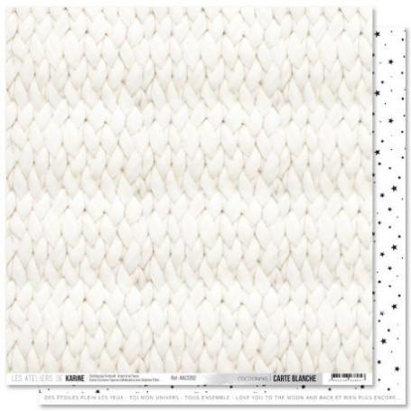 Papier 30x30 Cocooning 1f - Carte Blanche - Les ateliers de Karine