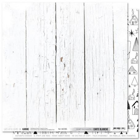 Papier 30x30 Forêt enchantée 1f - Carte Blanche - Les ateliers de Karine