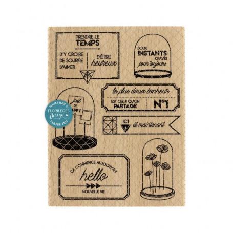 Tampon Prendre le temps - Miss Charleston - Florilèges Design