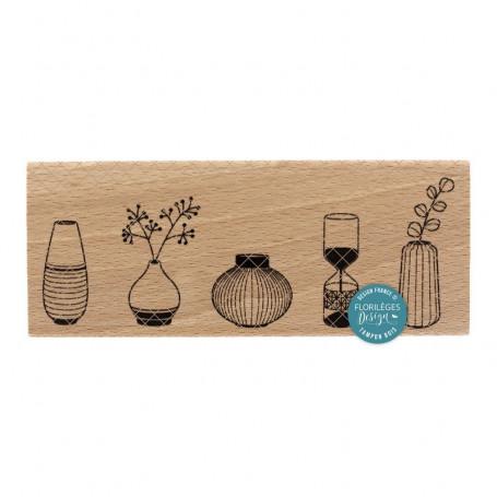 Tampon 4 vases - Miss Charleston - Florilèges Design