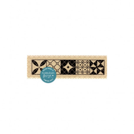 Tampon Carreaux de ciment - Miss Charleston - Florilèges Design
