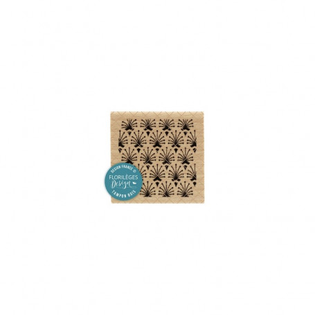 Tampon Plumes de paon - Miss Charleston - Florilèges Design