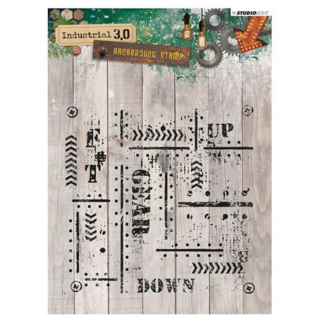 Tampon de fond Industrial 3.0 nr 321 - Studio Light Clear Stamps