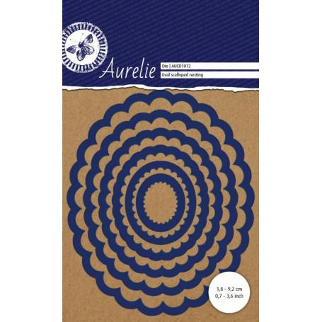Dies Set de 6 Ovales festonnés  – Oval Scalloped Nesting Aurelie
