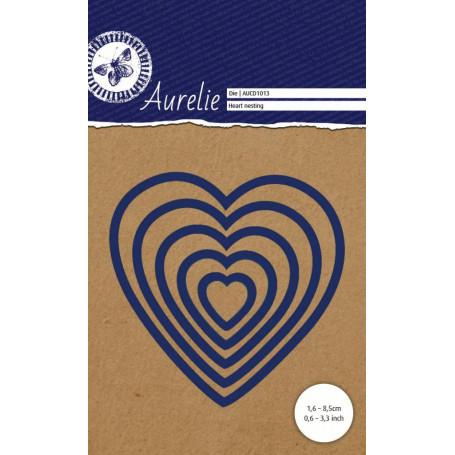 Dies Set de 5 Coeurs – Heart Nesting Aurelie