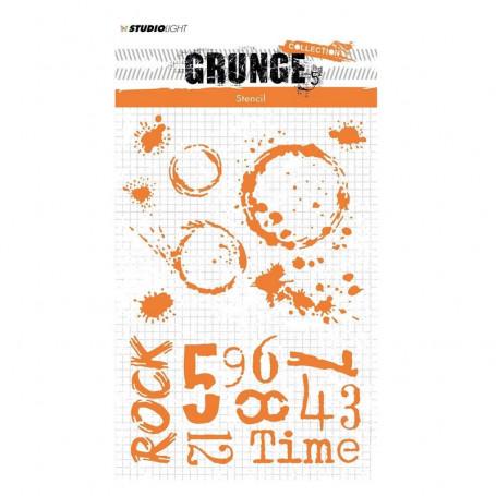 Pochoir Grunge collection 11 A5 – Studio Light Mask Stencil
