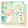 Set de papier 30x30 Rivages Exotiques 6f et 1 planche de tags - Lorelaï Design