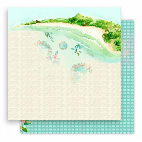 Papier 30x30 Rivages Exotiques 04 - 1 feuille - Lorelaï Design