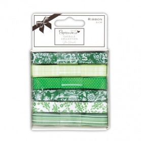 Ruban Chelsea Green (6x1m) Capsule Collection – Docrafts Papermania