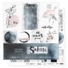 Set de papier 30x30 Sakura 6f + 1 planche d'étiquettes - Florilèges Design