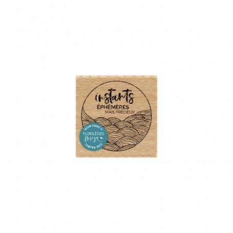 Tampon bois Instants éphémères - Sakura - Florilèges Design