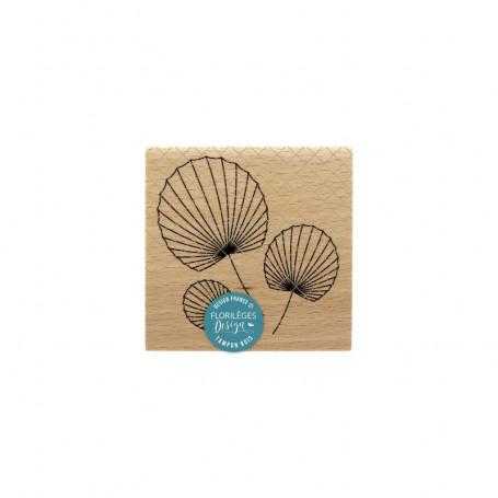 Tampon bois Trois éventails - Sakura - Florilèges Design