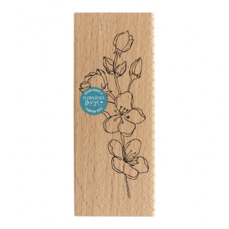 Tampon bois Branche Sakura - Florilèges Design