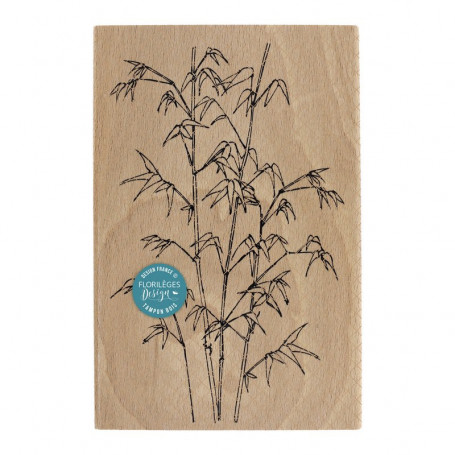 Tampon bois Bambous légers - Sakura - Florilèges Design