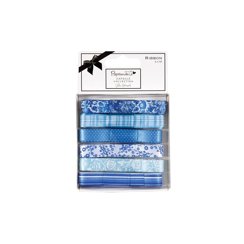 Ruban Burleigh Blue (6x1m) Capsule Collection – Docrafts Papermania