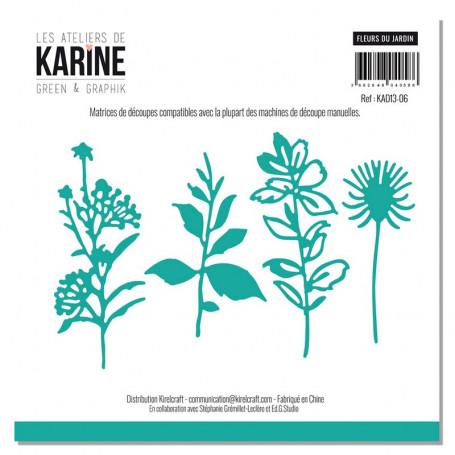 Dies Fleurs du jardin 4pc - Les Ateliers de Karine