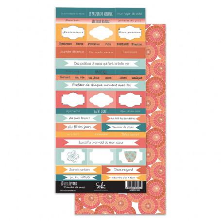 Planche étiquettes de mots à découper So'Leil Levant - Sokaï