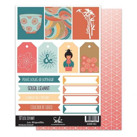 Planche étiquettes à découper 01 So'Leil Levant - Sokaï