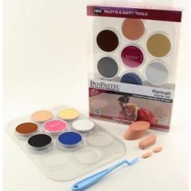 PanPastel Portrait Starter kit de 7 couleurs avec palette - 30073