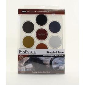 PanPastel Sketch & Tone kit de 7 couleurs avec palette - 30074