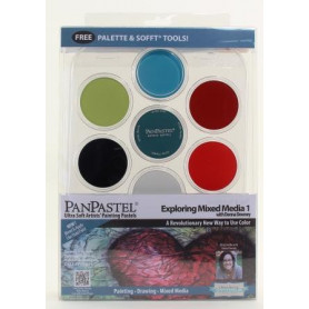 PanPastel Mixed Media 1 kit de 7 couleurs avec palette - 30075
