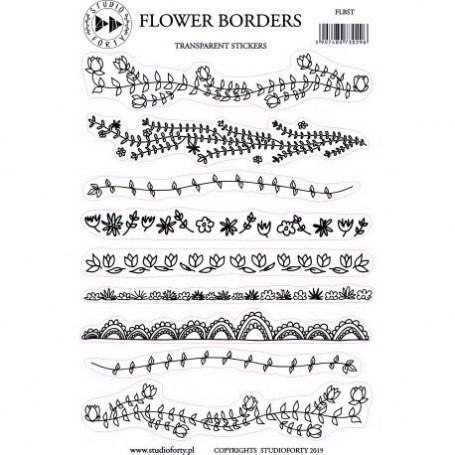 Stickers Transparents Flower Borders - Daydream - Studio Forty