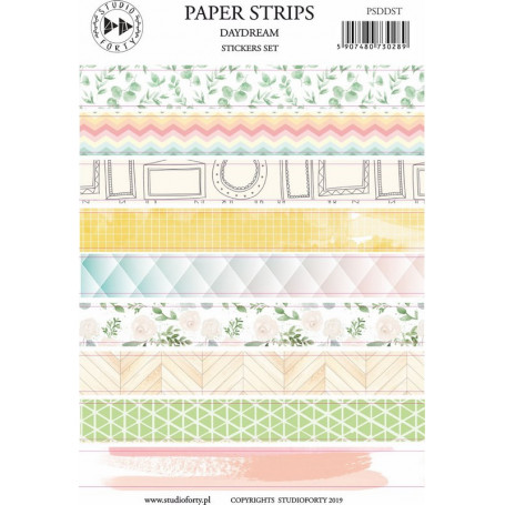 Stickers Transparents Paper Strips Daydream - Studio Forty