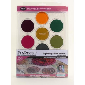 PanPastel Mixed Media 2 kit de 7 couleurs avec palette - 30076