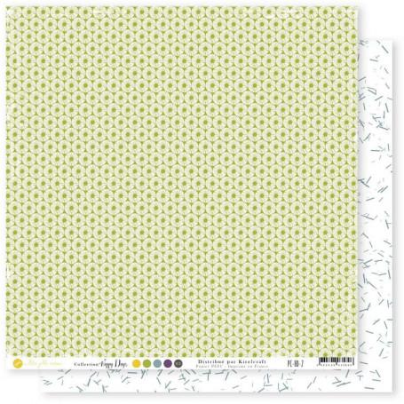 Papier 30x30 Happy Days 2 1feuille - Mes Ptits Ciseaux