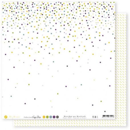 Papier 30x30 Happy Days 5 1feuille - Mes Ptits Ciseaux