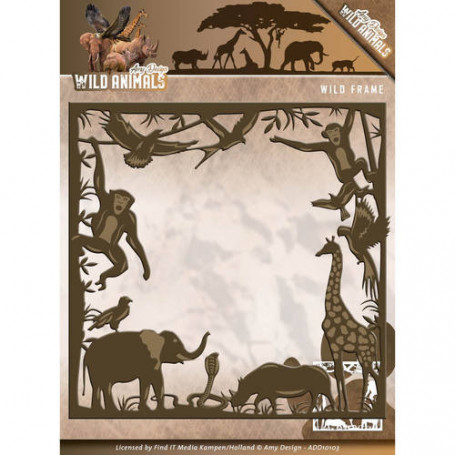 Die African Wild Frame 1 pièce - Wild Animals - Amy Design