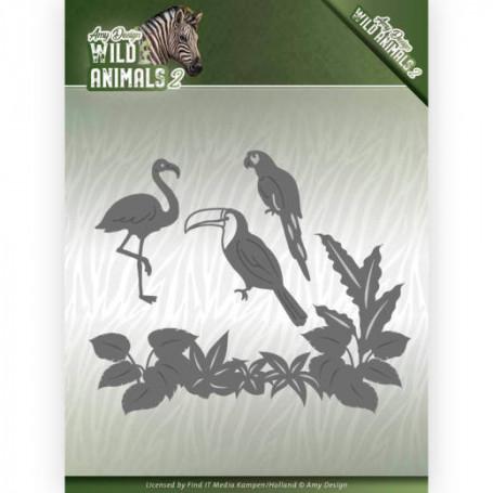 Dies Wild Tropical Birds 4 pièces - Wild Animals 2 - Amy Design