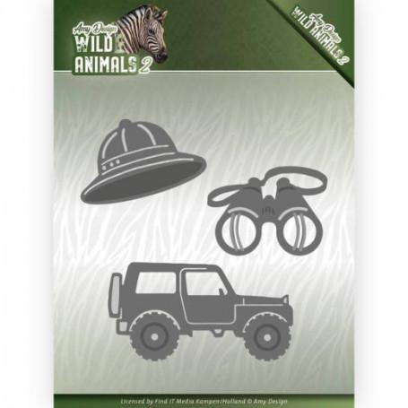 Dies On a safari 3 pièces - Wild Animals 2 - Amy Design