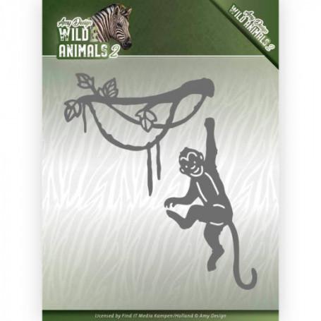 Dies Spider Monkey 2 pièces - Wild Animals 2 - Amy Design