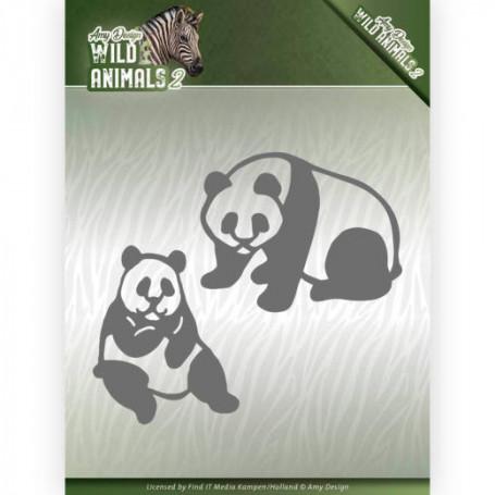 Dies Panda Bear 2 pièces - Wild Animals 2 - Amy Design