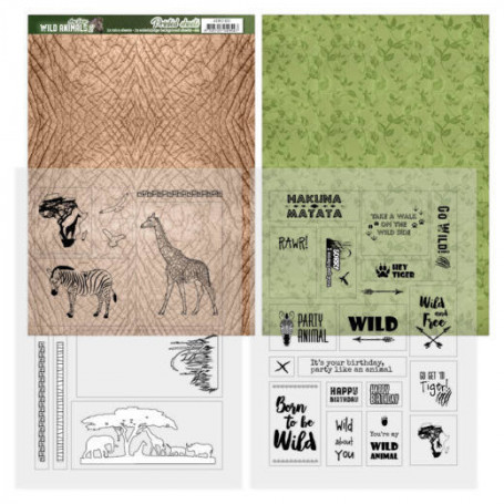 Set de papier & mica A4 Wild Animals 2 4f – Amy Design