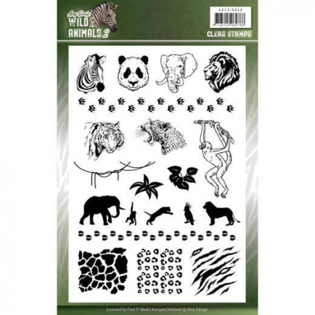 Tampons Animaux Sauvages - Amy Design Clearstamp Wild Animals 2