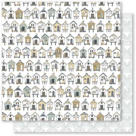 Papier 30x30 Embruns 1 1feuille - Mes Ptits Ciseaux