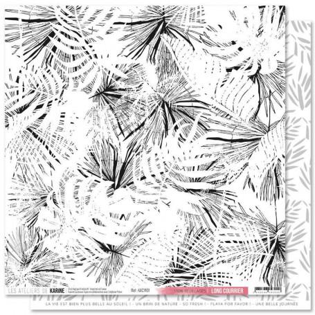 Papier 30x30 100% Feuillages 1f - Collection Long Courrier - Les ateliers de Karine
