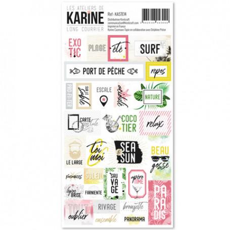 Stickers étiquettes Long Courrier - Les ateliers de Karine