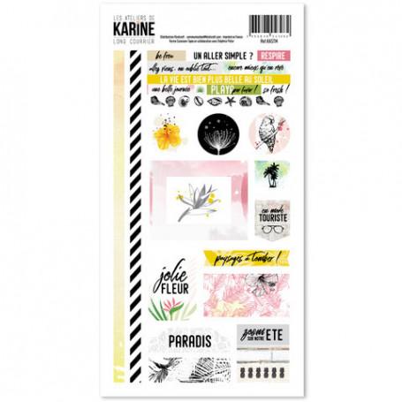 Stickers Long Courrier - Les ateliers de Karine