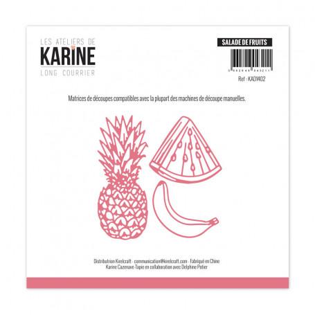 Dies Salade de fruits 3pc - Long Courrier - Les Ateliers de Karine