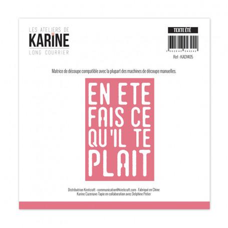 Die Texte été 1pc - Long Courrier - Les Ateliers de Karine