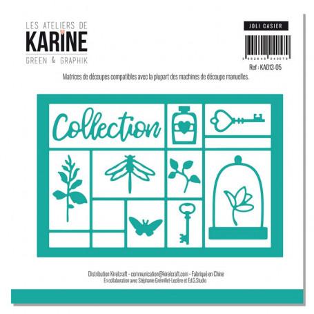 Dies Joli casier 10pc - Green & Graphic - Les Ateliers de Karine