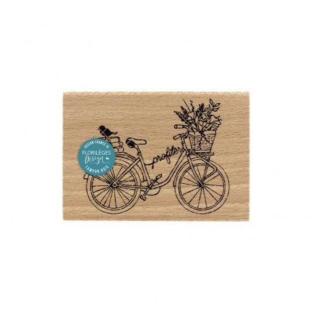 Tampon bois Profiter à vélo - La maison de Jeanne - Florilèges Design