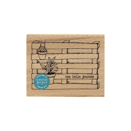 Tampon bois Palette déco - La maison de Jeanne - Florilèges Design