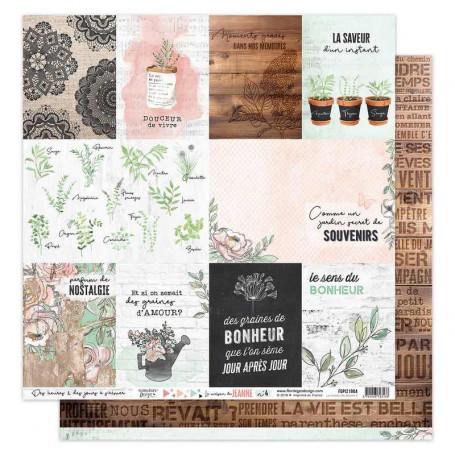 Papier 30x30 La maison de Jeanne n° 4 1f - Florilèges Design