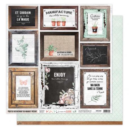 Papier 30x30 La maison de Jeanne n° 7 1f - Florilèges Design